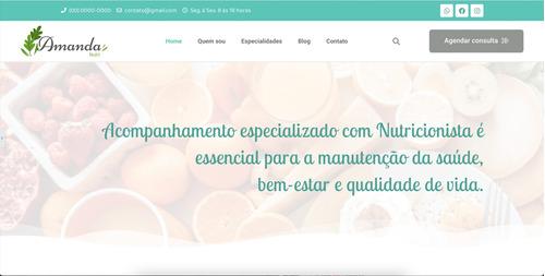 Imagem 1 de 3 de Site Para Nutricionista - Completo