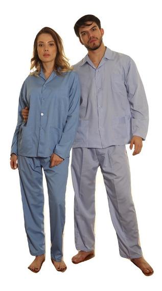 Pijama Unisex Celeste O Blanco Liso Para Policia