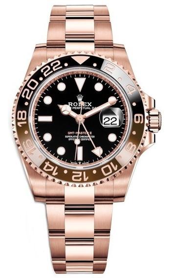 Relógio Eta - Modelo. Gmt Master Il Rose 18k Eta 2840 - 904l