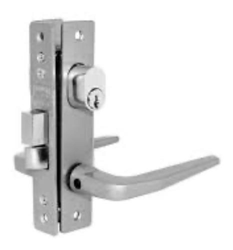 Imagen 1 de 1 de Cerradura Para Perfil De Aluminio Mod. 549 Aluminio Natural