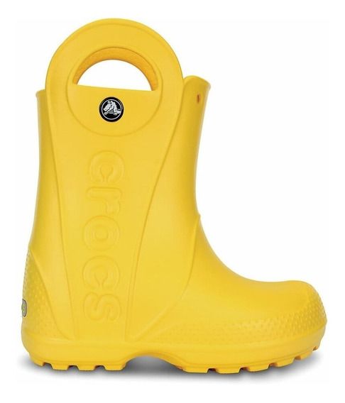 Bota De Lluvia Crocs Handle It Rain Kids C12803c730 Amarillo