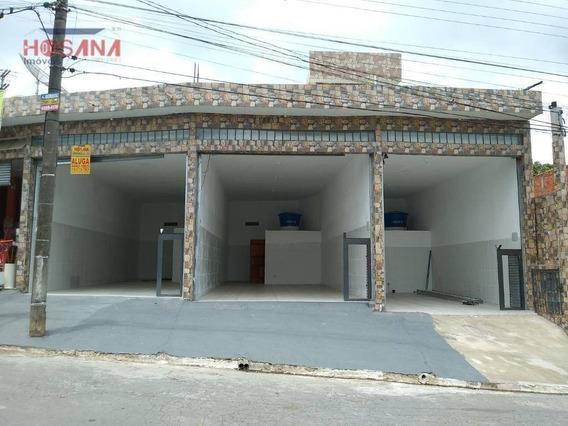 Salão Para Alugar, 60 M² Por R$ 1.200/mês - Jardim Alegria - Francisco Morato/sp - Sl0052