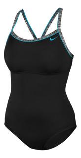 Traje De Baño Nike De Una Pieza Sólido Para Mujer