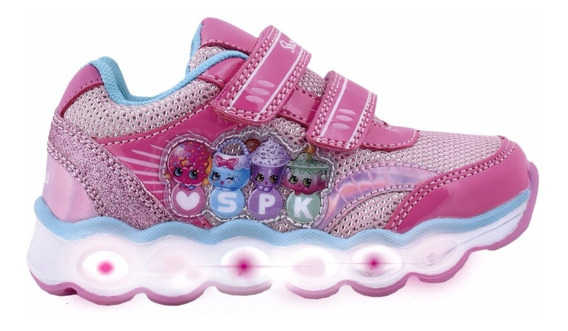 Zapatillas Con Luces Shopkins Footy #602 #603 Mundo Manias