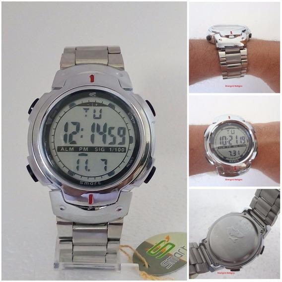 Relógio Prata Masculino Digital Smart Original Prova Dagua