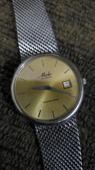 Relógio Mido Ocean Star Quartz Vidro Safira 100%