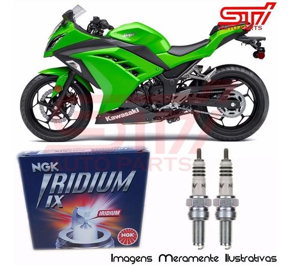 Jogo Vela Ngk Iridium Cr8eix Kawasaki Ninja 300 2013-2017
