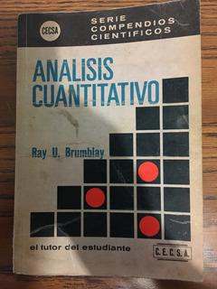 Análisis Cuantitativo Ray U Brumblay