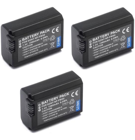 3 Baterias + 1 Carregador P/ Sony Nex-3 Nex-c3 Nex-5 Nex-7