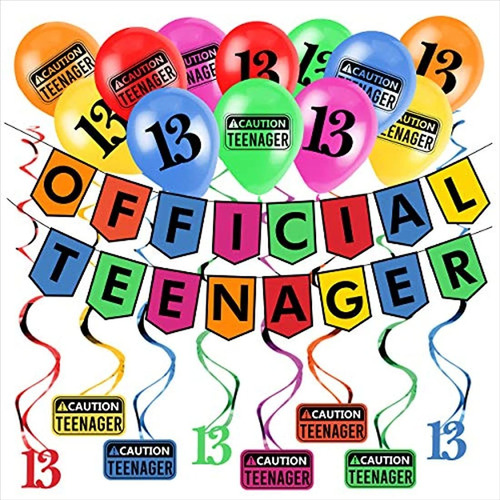 Divertido Kit De Fiesta De Cumpleaños # 13 Adolescentes