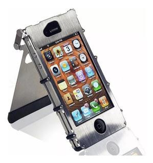 Capa Case Metal Aco Inox Inoxcase iPhone 4/4s