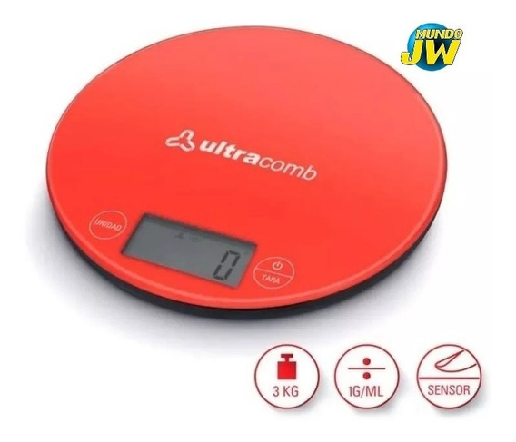 Balanza De Cocina Digital Ultracomb Bl6001 H/ 3 Kilos Slim