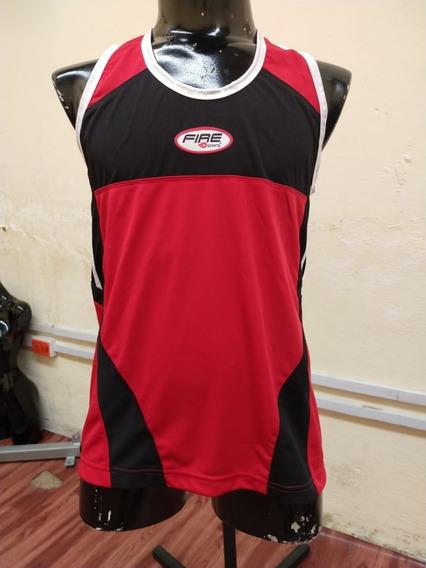 Playera Atletismo Rojo-negro T-md