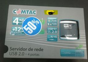 Servidor De Rede Usb 2.0 - 4 Portas Comtac