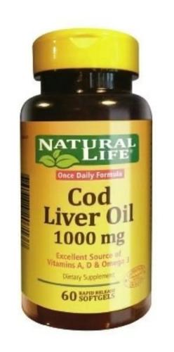 Natural Life Liver Oil Articulaciones Y Colesterol X 60 Cps