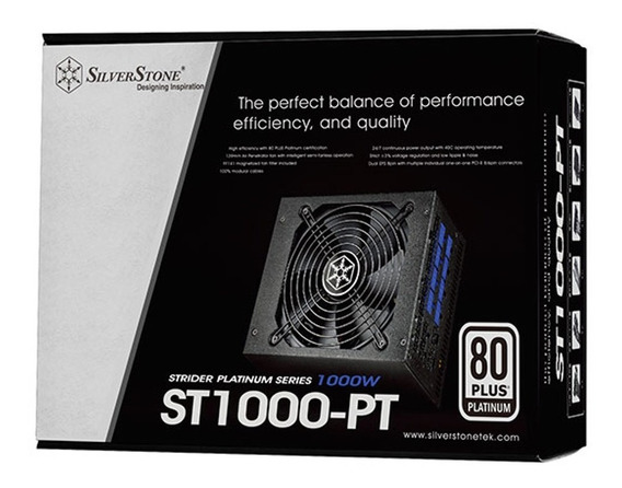 Fonte Atx - 1000w - Silverstone Strider Platinum Series St1000-pt - Sst-st1000-pt