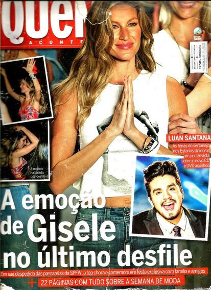 Revista Quem 762/15 = Luan Santana/gisele/grazi/sabrina