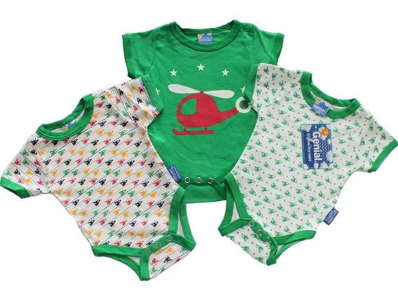Bodys Para Bebe Niños O Varones 3 Piezas Genial