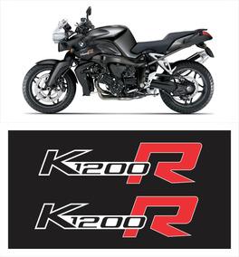 Par Adesivo Emblema Bmw K1200r Preta