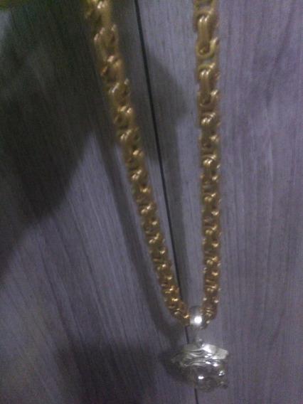 Cordão Grosso De Ouro Maciço Banhado Com 5 Camadas Em Ouro