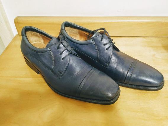 Sapato Social Masculino Di Pollini Azul