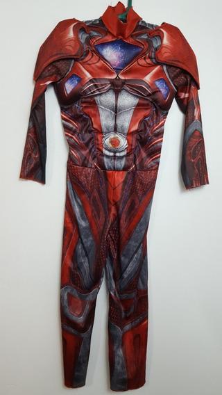 Traje Disfraz Power Rangers Rojo Talla 4/6 Niño L996