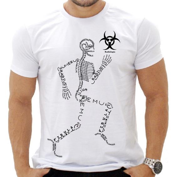 Camisa Camiseta Curso Radiologia Arte Frente E Costa