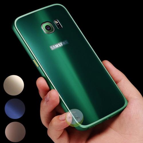 Case Protector Lujo Metal Samsung S6 Edge & Plus+ / 4colores