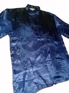 Uniforme De Tai Chi Y Kung Fu Con Dragón Bordado