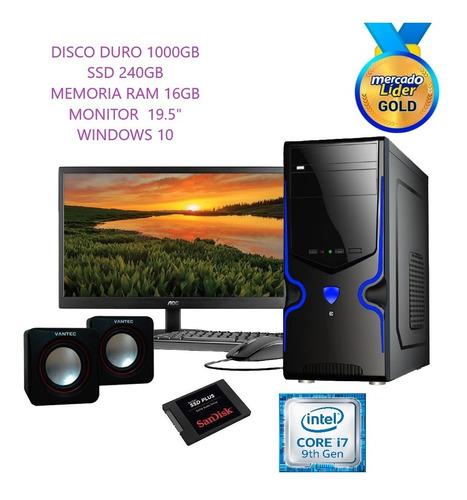 Computador Core I7 9na Gen 1tb+240gb Ssd 16gb Led 20 Inc Iva