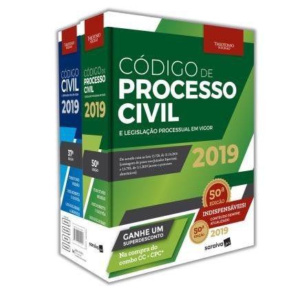 Combo Livros Código Civil E Código Processo Civil 11ed/19