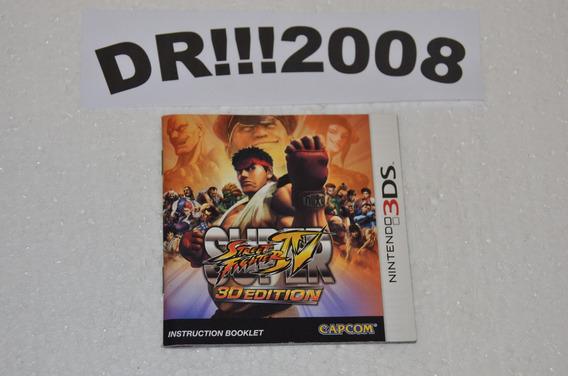 Manual Do Street Fighter 4 Original P/ Nintendo 3ds!!!
