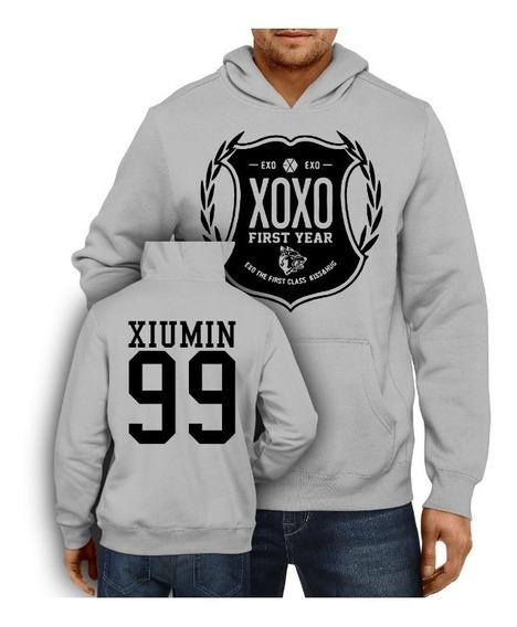 Blusa De Frio Moletom Kpop Exo Xoxo Xiumin 99 Casaco