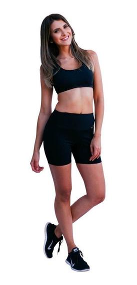 Kit C/ 10 Short Bermudinha Feminino Suplex Fitness Ginastica