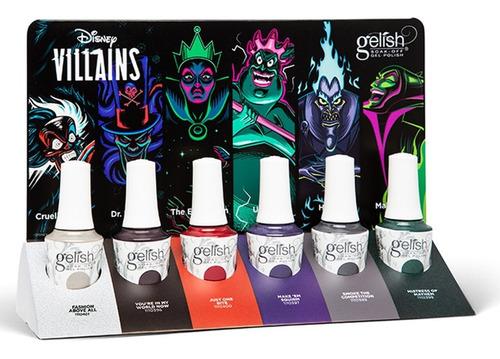 Colección Original Gelish Otoño Disney Villains Con Exhibido