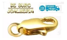 Fecho Mosquetão Ouro 18k 750 / 1,3cm / 0,70g..a Vista - Novo