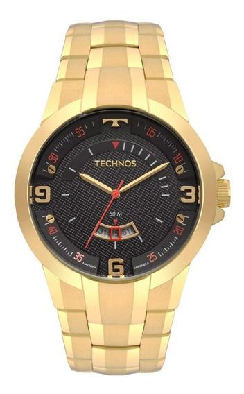 Relógio Technos Dourado Racer 2117lbe/4p Original