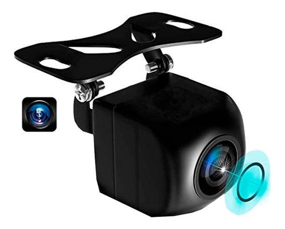 Camera De Ré Frontal Veicular Olho De Peixe Visão Noturna