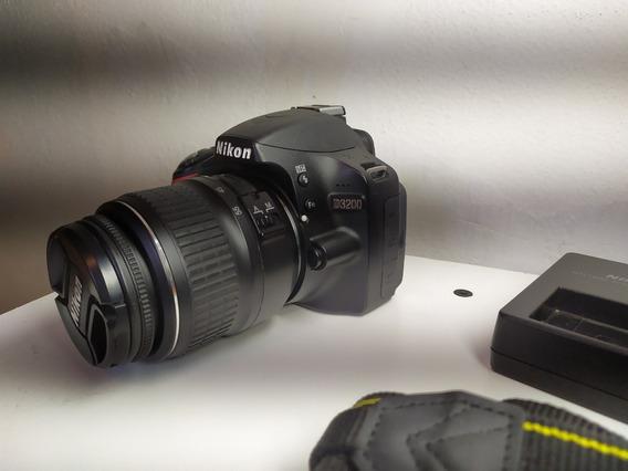 Nikon D3200 Con 6700 Disparos Y Accesorios De Regalo!!