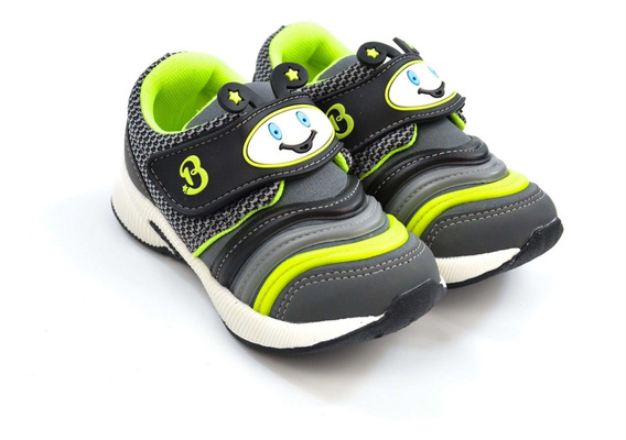 Tenis Menino 415.003317121 Jogging Cinza Brink 15536