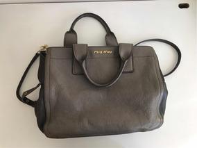 Bolsa Miu Miu Cinza
