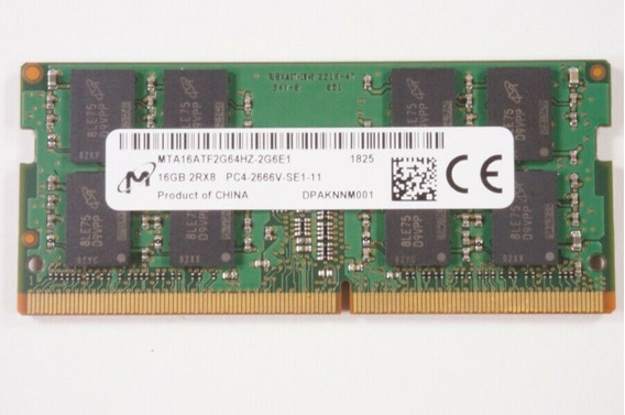 Memoria Micron 16 G Ddr4 Pc4 2666v Mta16atf2g64hz-2g6e1 Note