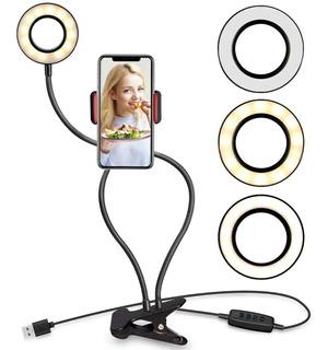 Aro Led Selfie Luz Ajustable Escritorio Bluetooth C1614032