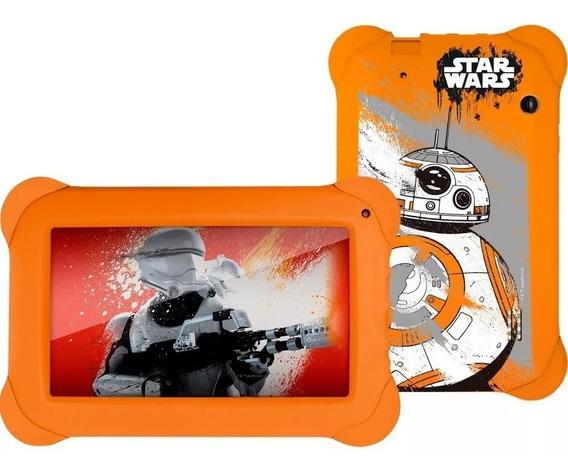 Capa Case Tablet 7 Pol Filme Star Wars Laranja Emborrachada