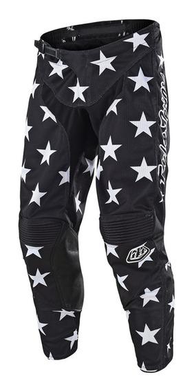 Pantalon Motocross Troy Lee Gp Star Blanco/negro