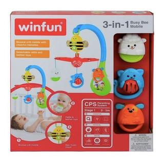 Winfun 3 En 1 Móvil Cuna De Abeja Y Animales Para Bebé Nuevo