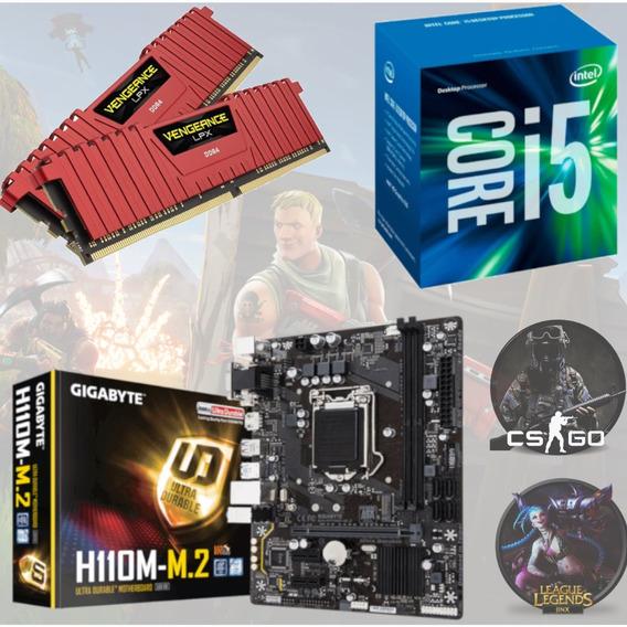 Kit Gamer Intel I5 7400 + Gigabyte H110m M2 + Vg 16gb 2400
