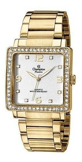 Relógio Champion Passion Quadrado Dourado Ch25696h