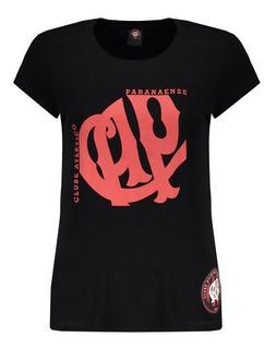 Camiseta Atlético Paranaense Square Feminina Preta