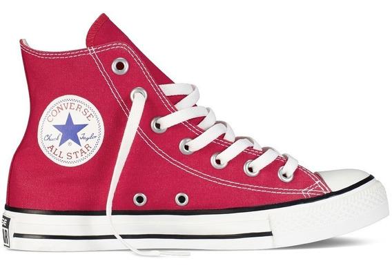 Converse Bota Unisex Chuck Taylor All Star Hi Rojo - Negro